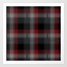 Black, Red, Lumberjack Plaid Art Print