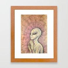 Alien Prayer Framed Art Print