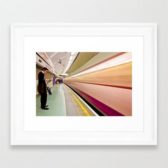 Mega-Whoosh Framed Art Print