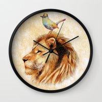 Lion&Bird Wall Clock