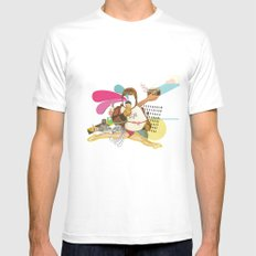 UNTITLED #1 White SMALL Mens Fitted Tee
