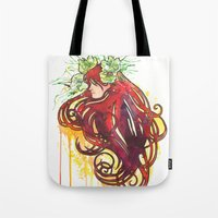 Flower Sprite Tote Bag