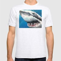 Shark Mens Fitted Tee Ash Grey SMALL