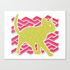 Green and Pink Canvas Print