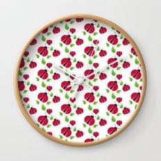 Ladybird pattern Wall Clock