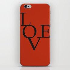 LOVE RED iPhone & iPod Skin