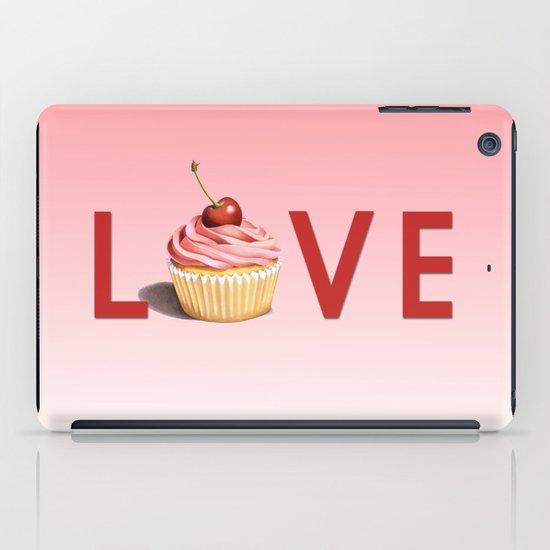Perfect Pink Cupcake LOVE iPad Case