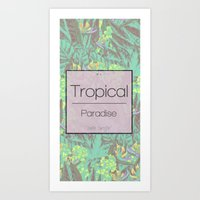 Tropical Paradise: Jade Jungle Art Print