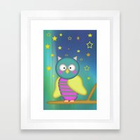 Good Night Little Owl Framed Art Print