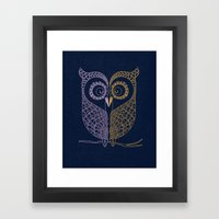 Tale Of Two Birds  Framed Art Print