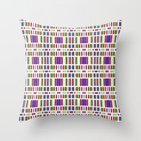 Retro Bar Pattern Throw Pillow