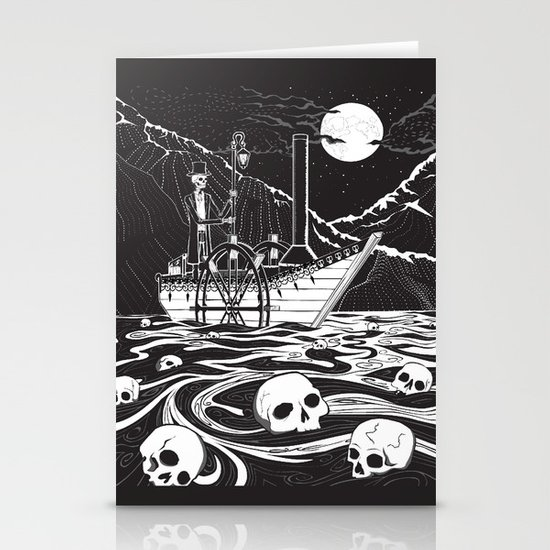 Steamboat across the Styx Stationery Card