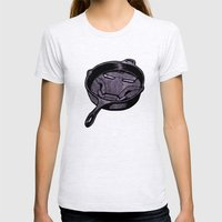 Cast Iron Man  Womens Fitted Tee Ash Grey SMALL
