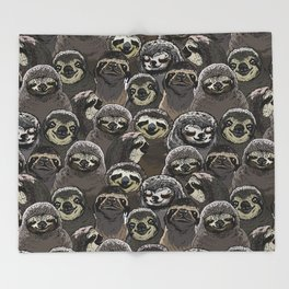Throw Blanket - Social Sloths - Huebucket