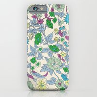 iPhone & iPod Case featuring floral garden - spring by threequalsquare