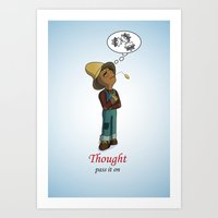 oz-thought Art Print