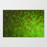 Big Green Bokeh Canvas Print