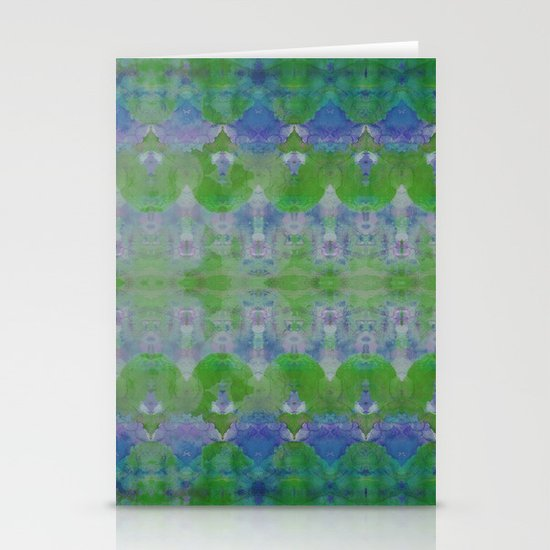 Watercolour Tribal Green Stationery Card