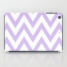 Lavender & White Chevron iPad Case