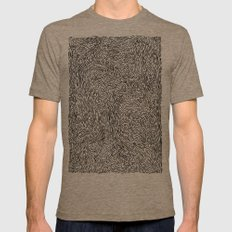 SquiBBlies Mens Fitted Tee Tri-Coffee SMALL
