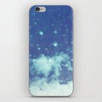 Blue and purple bubble clouds II iPhone & iPod Skin