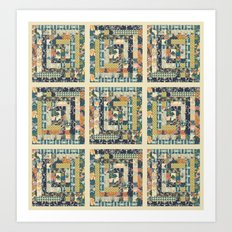 Art Deco Patchwork Art Print