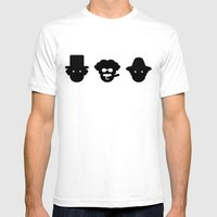 Chico, Harpo & Groucho Mens Fitted Tee White SMALL