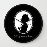 Let's Have Dinner Wall Clock