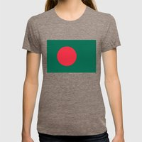 Flag Of Bangladesh, High… Womens Fitted Tee Tri-Coffee SMALL