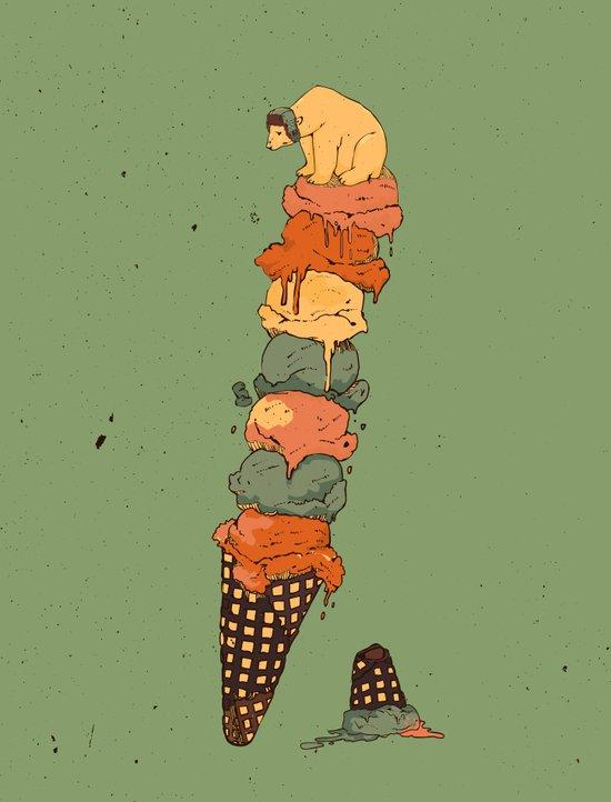 The Arctic Ice Cream Art Print