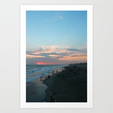 Coast Line Art Print