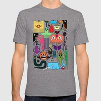 Monsters Mens Fitted Tee Tri-Grey SMALL