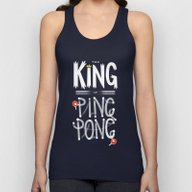 The King Of Ping Pong Unisex Tank Top