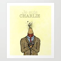 Je Suis Charlie Art Print