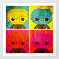 Andy Pop! Art Print
