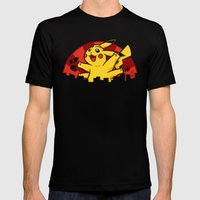 Pikaiju Mens Fitted Tee Black SMALL