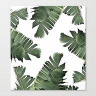 Banana Leaf Frenzy #soci… Canvas Print