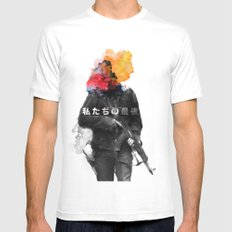 Unkown Soldier SMALL White Mens Fitted Tee