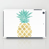 Gold Pineapple iPad Case