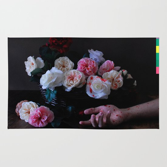 """Power, Corruption & Lies"" by Cap Blackard Area & Throw Rug"
