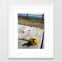 flower by the sea Framed Art Print