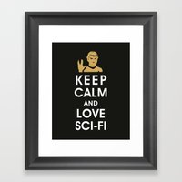 Keep Calm and Love Sci-Fi Framed Art Print