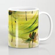 Dancing Flowers Abstract Mug