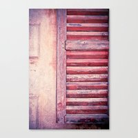 Moody weathered shutter Canvas Print