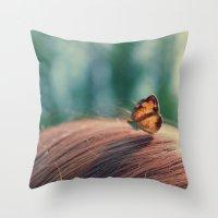 butterflyyyy Throw Pillow