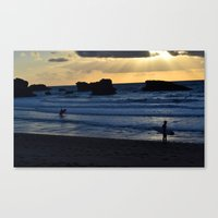 Catching the Last Wave Canvas Print
