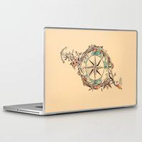map Laptop & iPad Skins featuring Bon Voyage by Norman Duenas