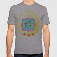 Tamagotchi Mens Fitted Tee Athletic Grey SMALL