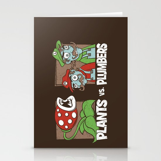 Plants Vs Plumbers  Stationery Card