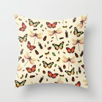 Insecta Throw Pillow